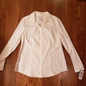 Charter Club womens petite button down shirt NWT